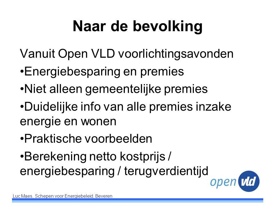 Naar de bevolking Vanuit Open VLD voorlichtingsavonden