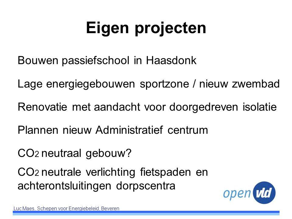 Eigen projecten Bouwen passiefschool in Haasdonk