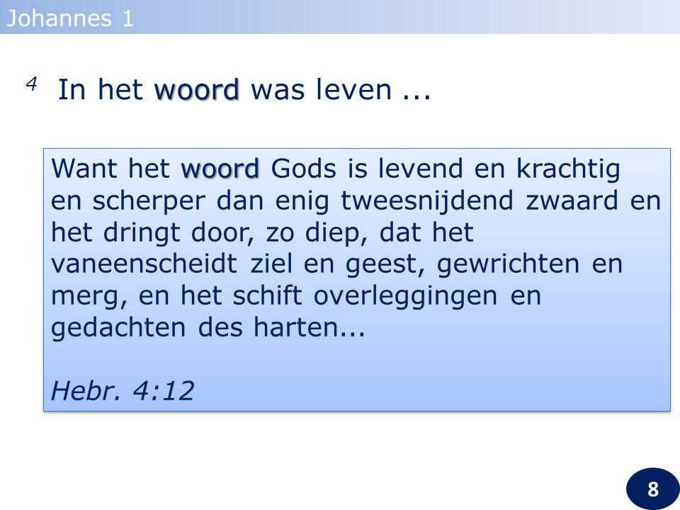 Johannes 1 4 In het woord was leven ...