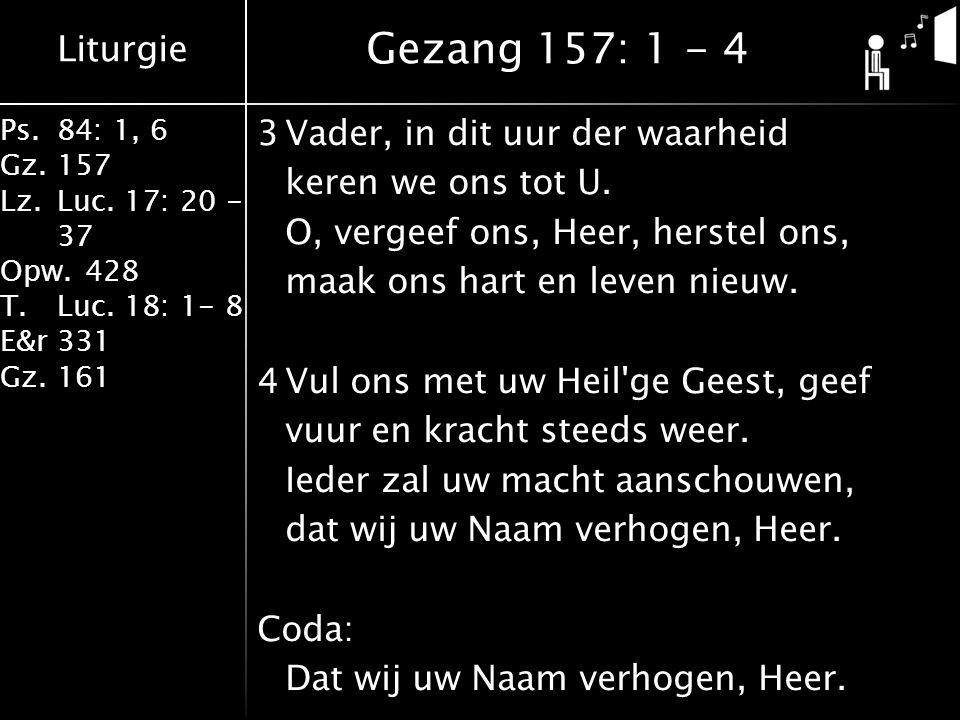 Gezang 157: 1 - 4