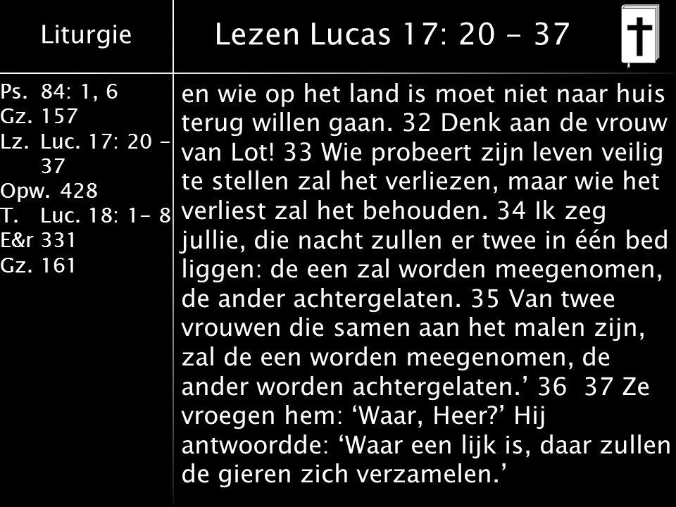 Lezen Lucas 17: 20 - 37