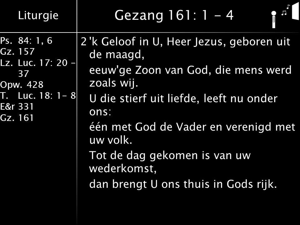 Gezang 161: 1 - 4