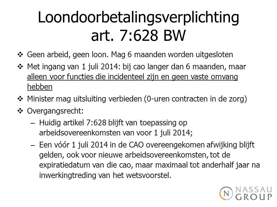 Loondoorbetalingsverplichting art. 7:628 BW