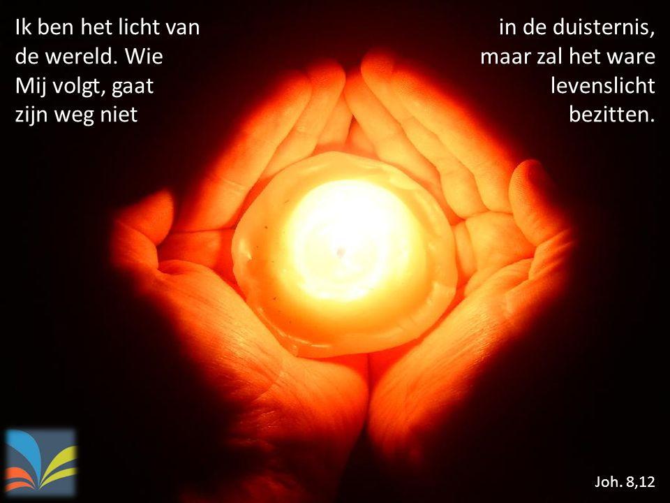 Ik ben het licht van de wereld. Wie Mij volgt, gaat zijn weg niet