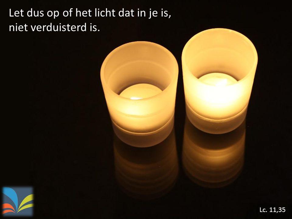 Let dus op of het licht dat in je is, niet verduisterd is.