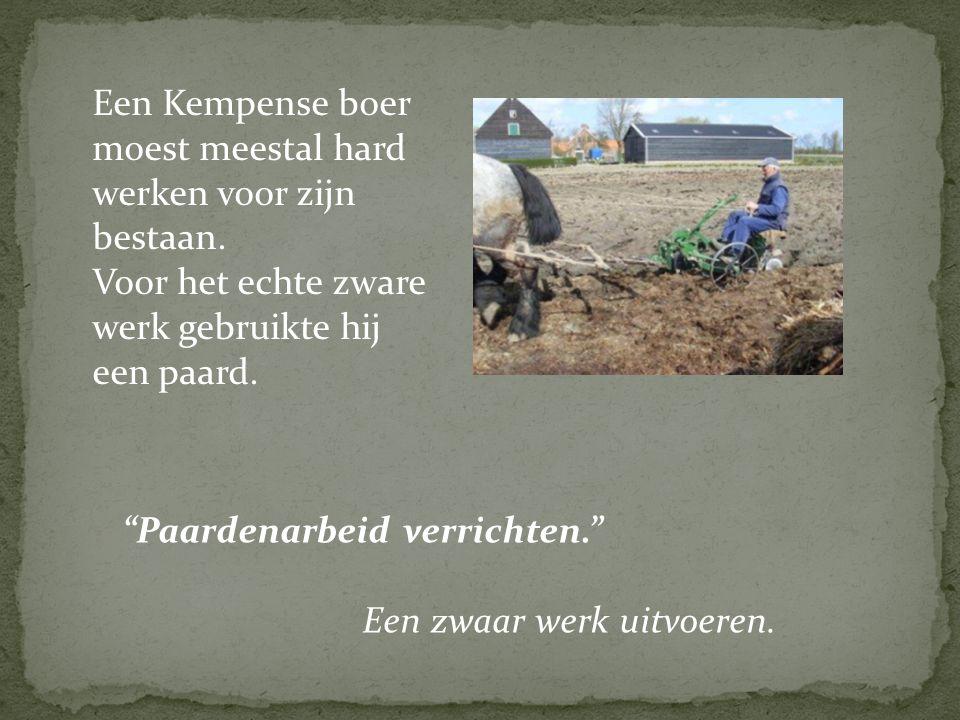 Een Kempense boer moest meestal hard werken voor zijn bestaan.