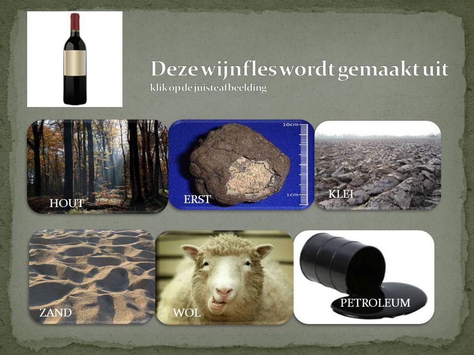 Deze wijnfles wordt gemaakt uit klik op de juiste afbeelding