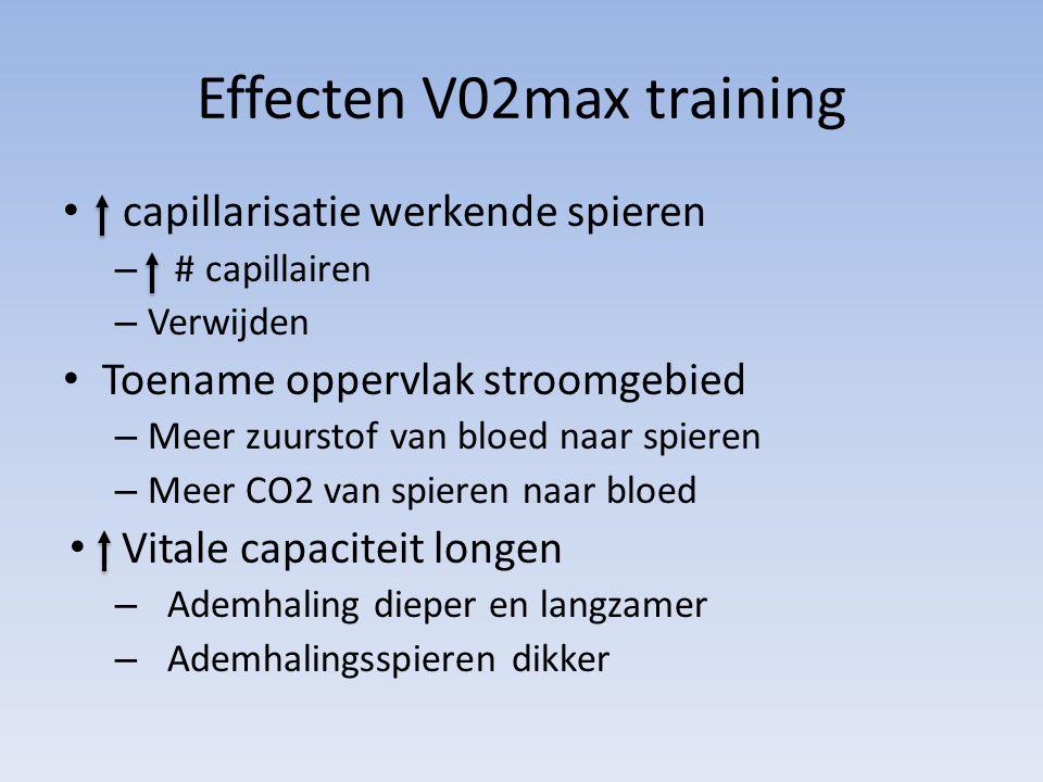 Effecten V02max training