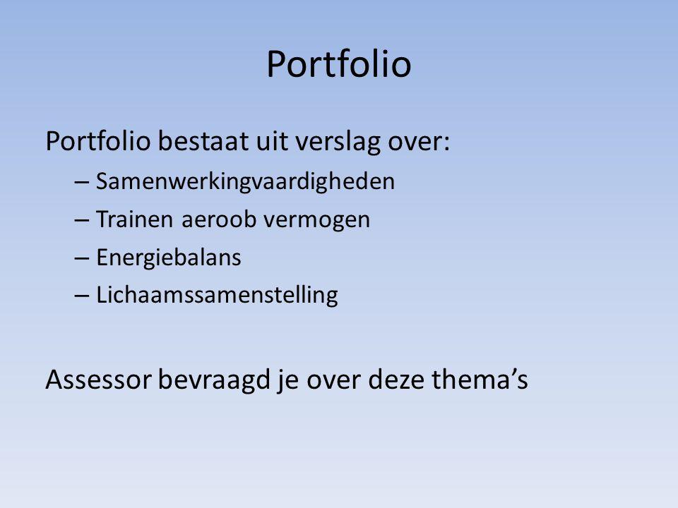 Portfolio Portfolio bestaat uit verslag over: