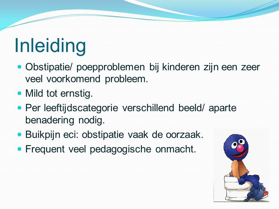 Inleiding Obstipatie/ poepproblemen bij kinderen zijn een zeer veel voorkomend probleem. Mild tot ernstig.