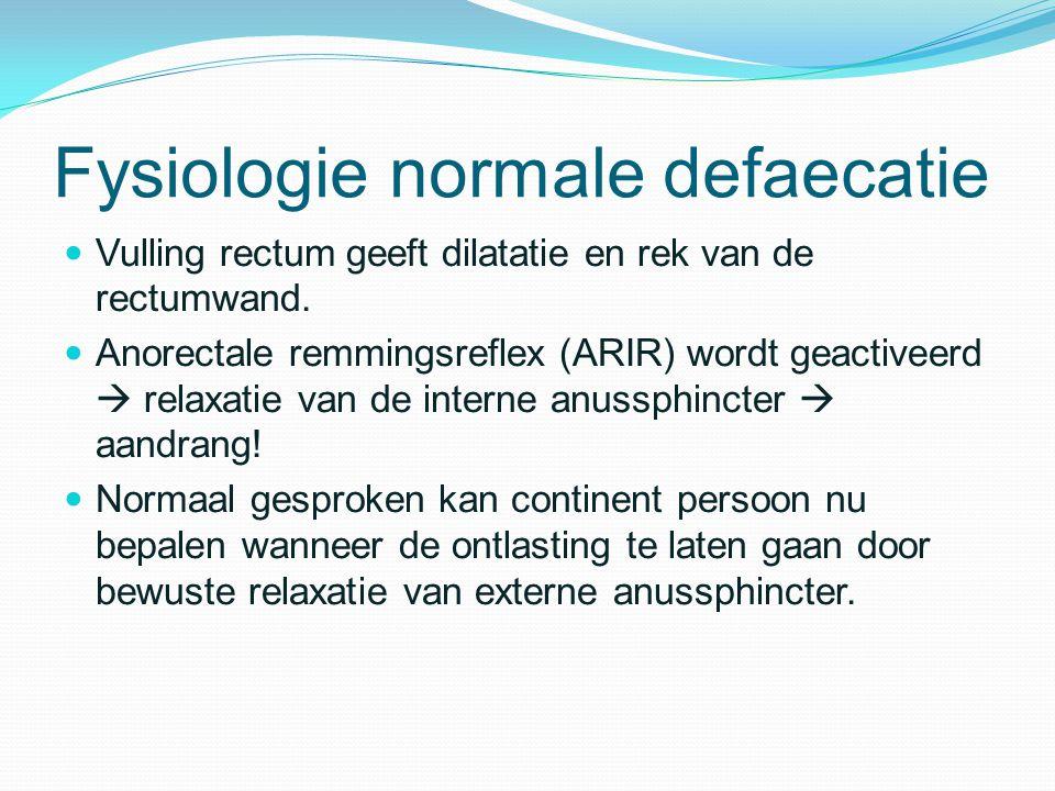 Fysiologie normale defaecatie
