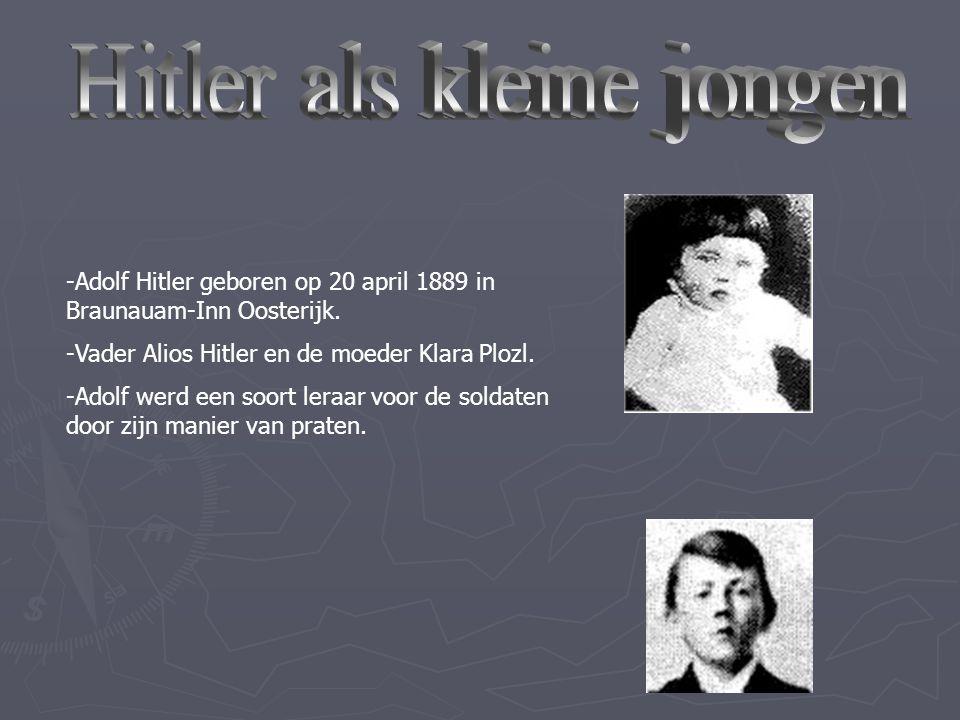 Hitler als kleine jongen