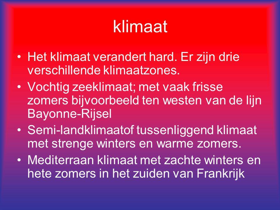 klimaat Het klimaat verandert hard. Er zijn drie verschillende klimaatzones.