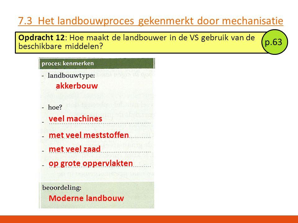 7.3 Het landbouwproces gekenmerkt door mechanisatie