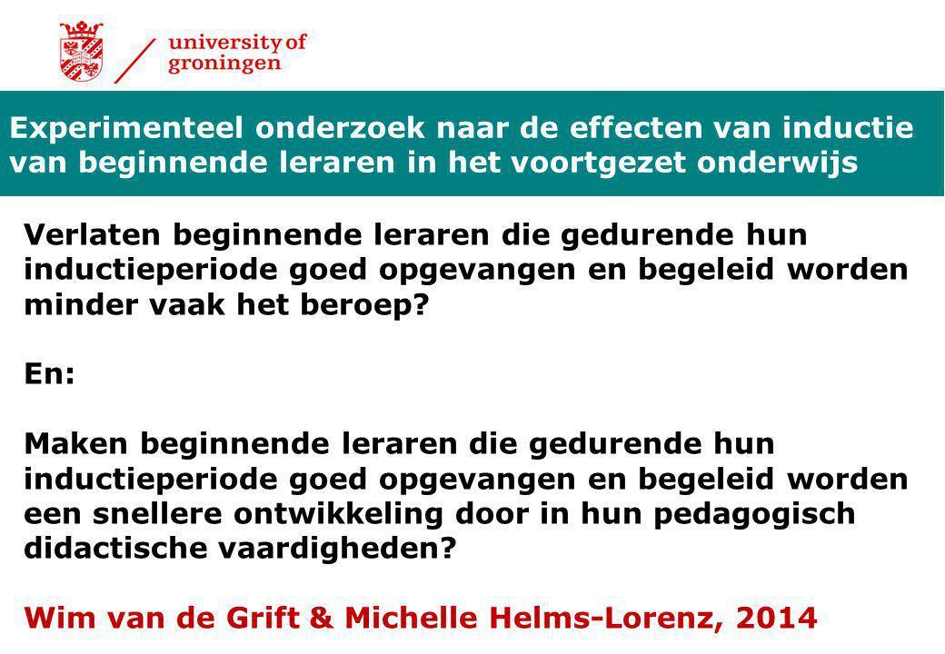 Experimenteel onderzoek naar de effecten van inductie van beginnende leraren in het voortgezet onderwijs