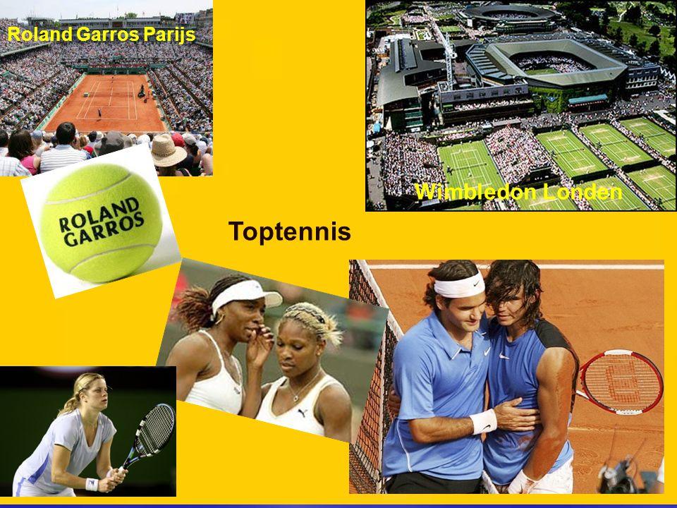 Roland Garros Parijs Wimbledon Londen Toptennis