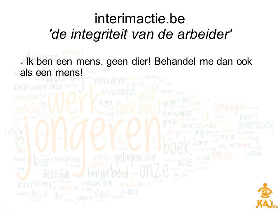interimactie.be de integriteit van de arbeider