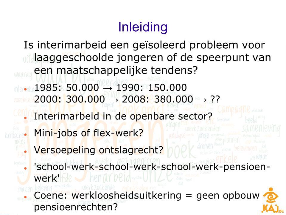 Inleiding Is interimarbeid een geïsoleerd probleem voor laaggeschoolde jongeren of de speerpunt van een maatschappelijke tendens