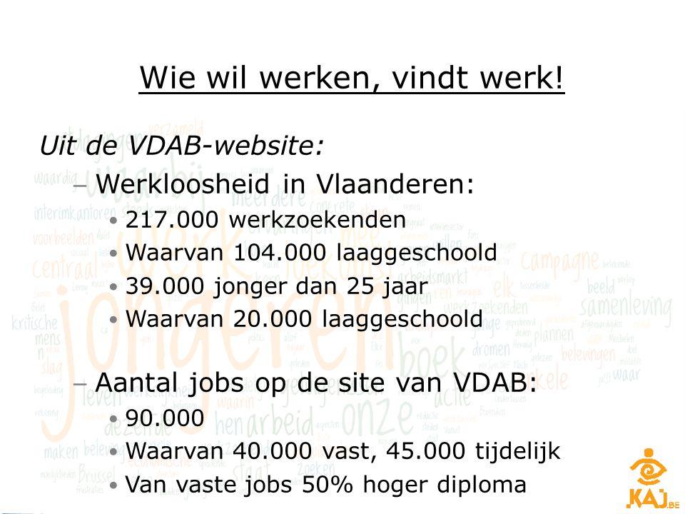 Wie wil werken, vindt werk!