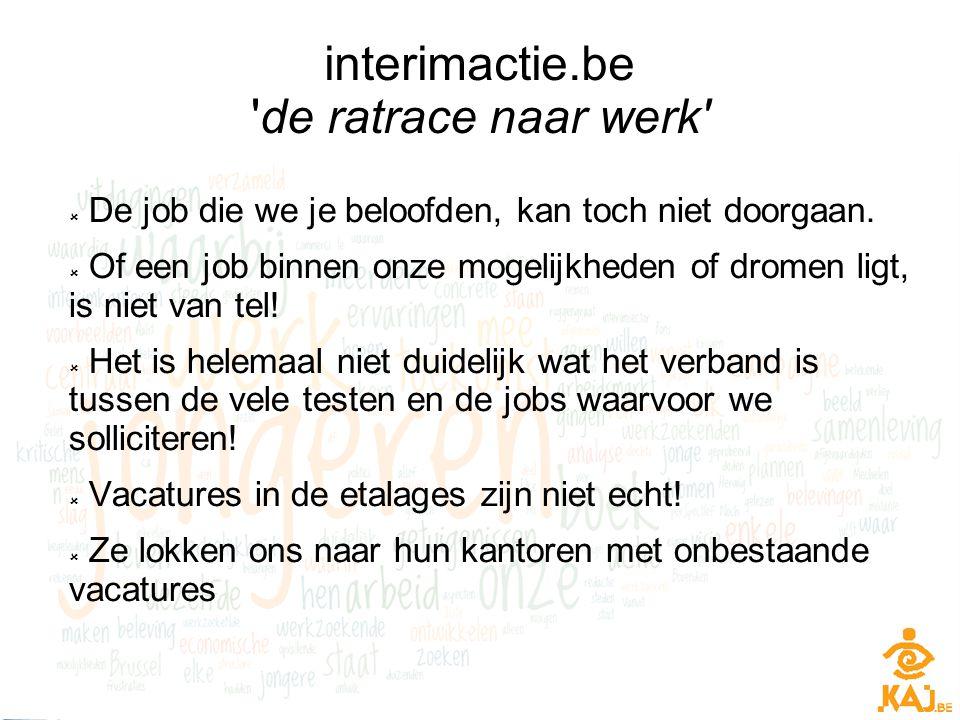 interimactie.be de ratrace naar werk