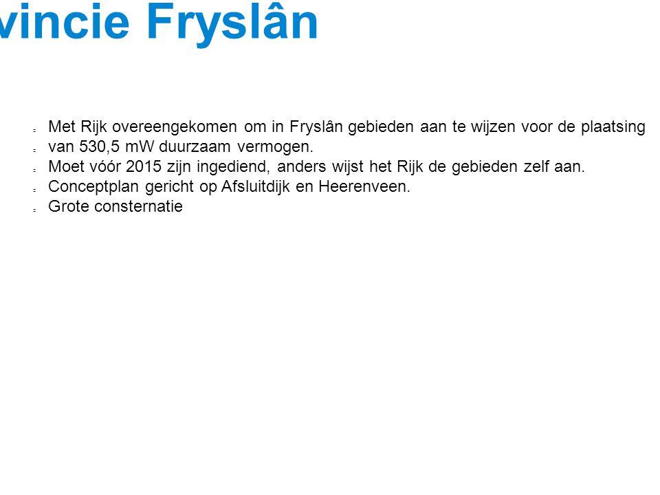 Beleid Provincie Fryslân
