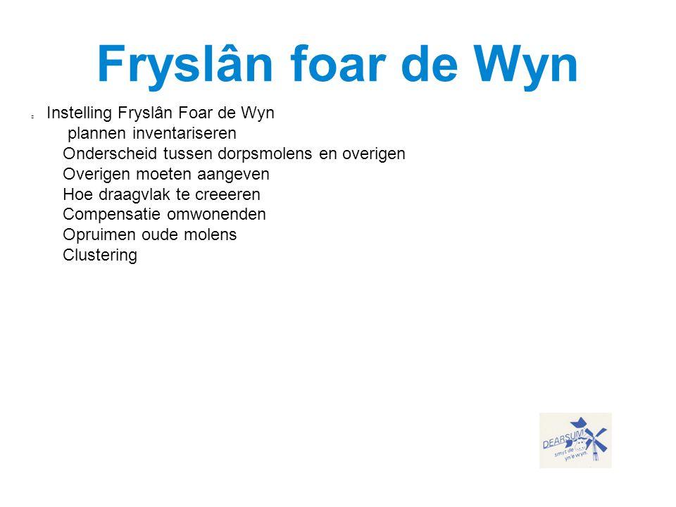 Fryslân foar de Wyn Instelling Fryslân Foar de Wyn