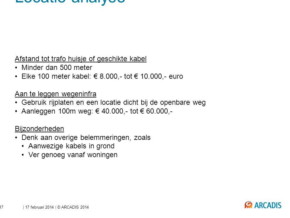 Beperken investeringen - Locatie analyse