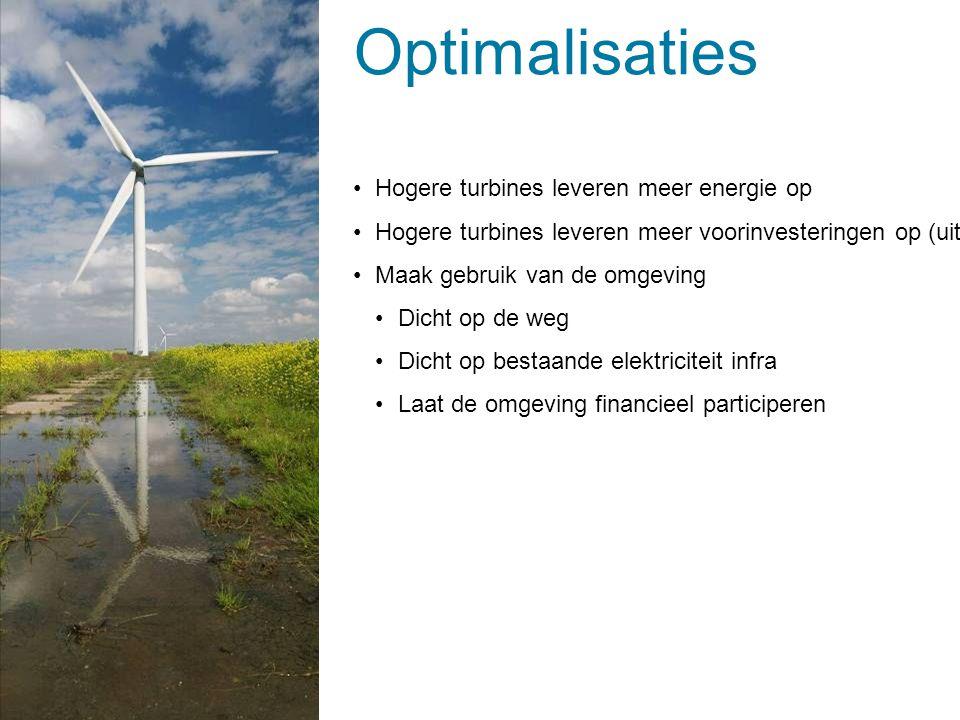 Optimalisaties Hogere turbines leveren meer energie op