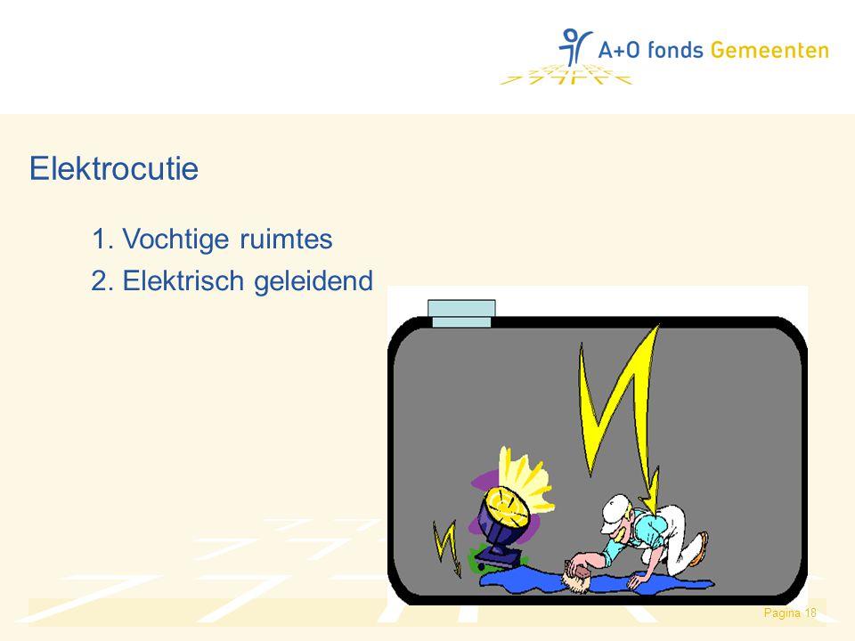 Elektrocutie 1. Vochtige ruimtes 2. Elektrisch geleidend