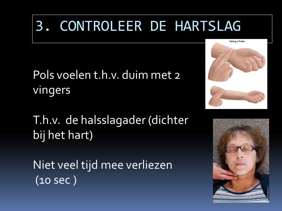 3. CONTROLEER DE HARTSLAG