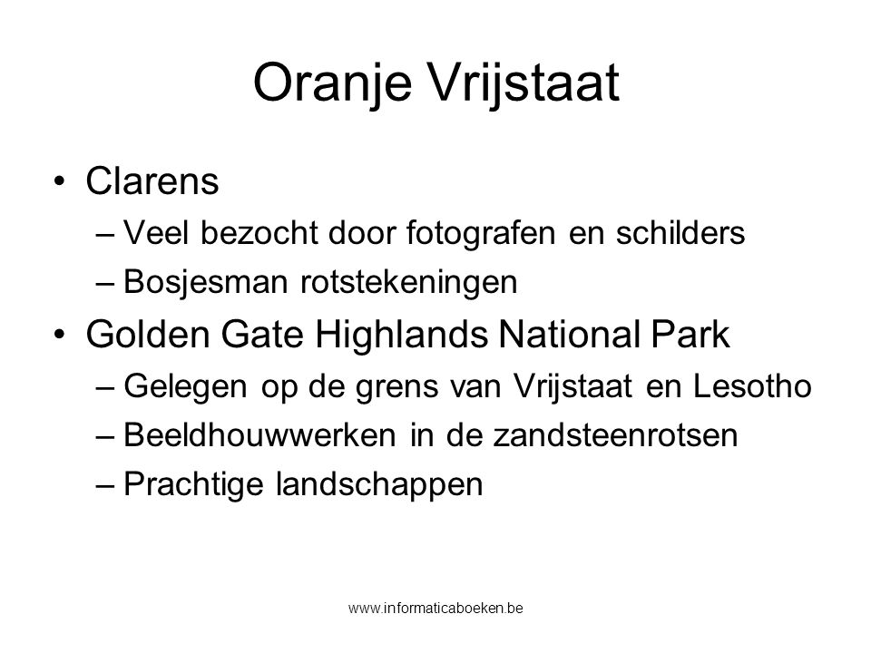 Oranje Vrijstaat Clarens Golden Gate Highlands National Park