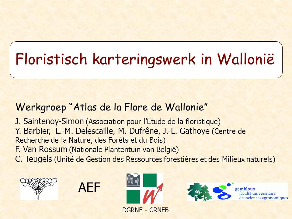 Floristisch karteringswerk in Wallonië