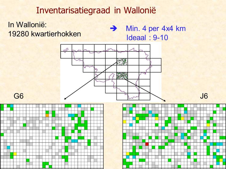 Inventarisatiegraad in Wallonië