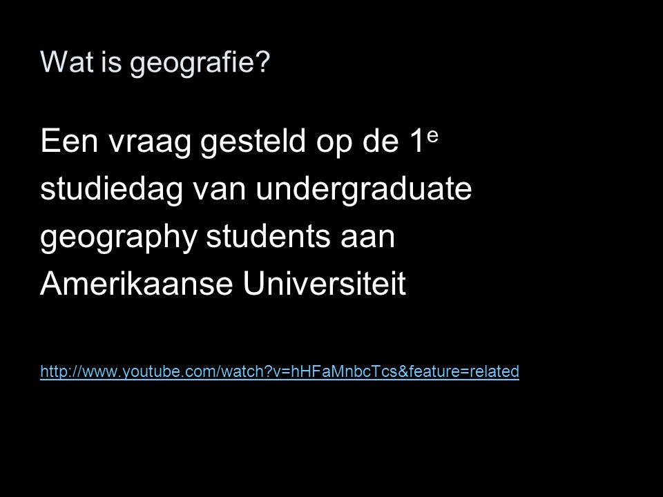 Een vraag gesteld op de 1e studiedag van undergraduate