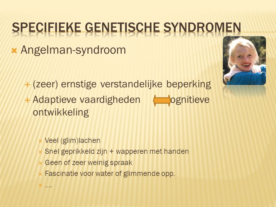 specifieke genetische syndromen