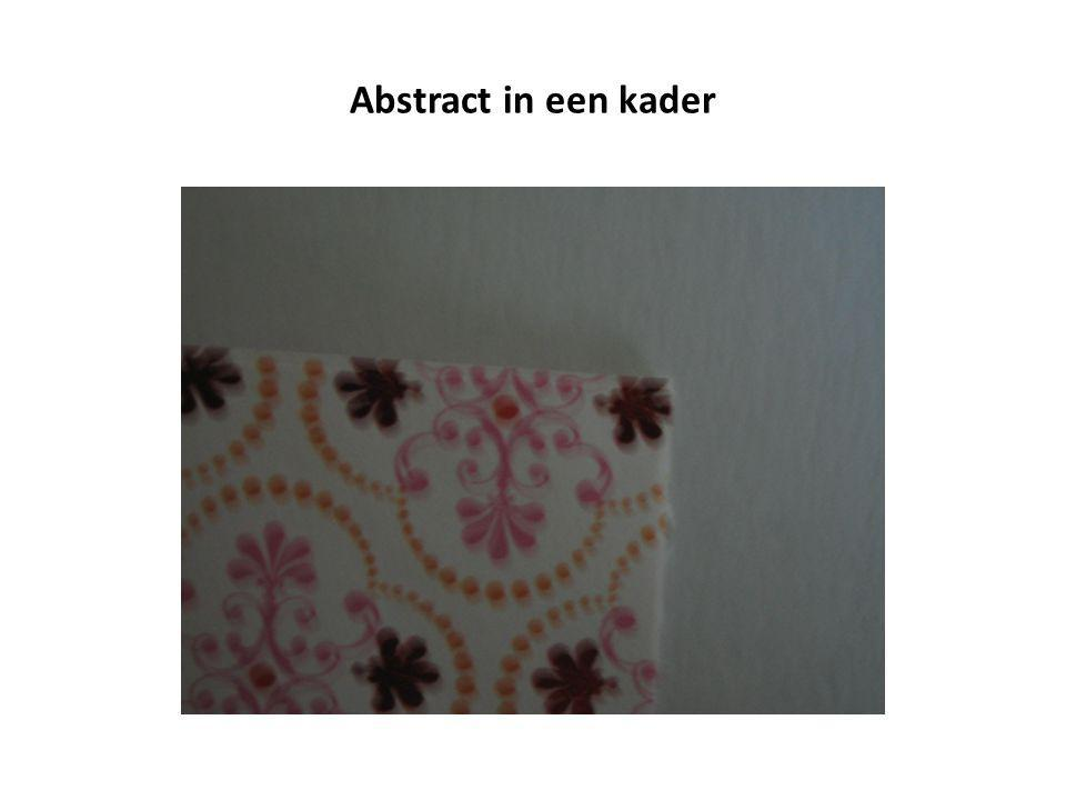 Abstract in een kader