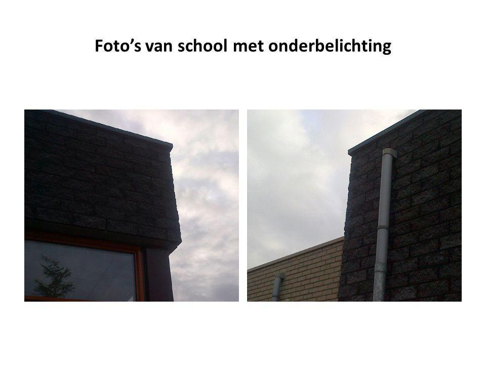 Foto's van school met onderbelichting