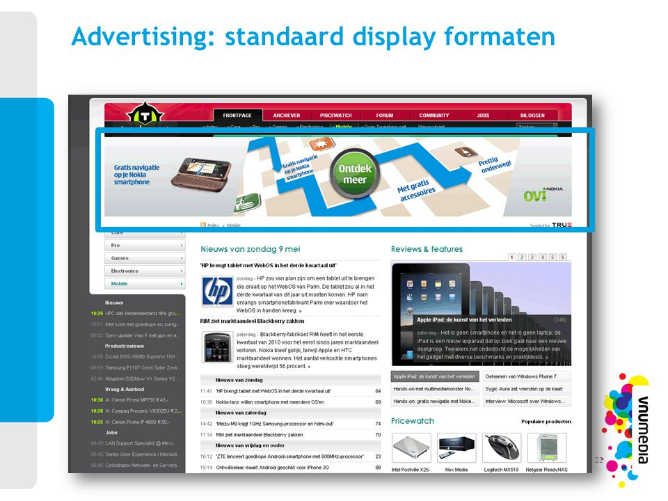 Advertising: standaard display formaten