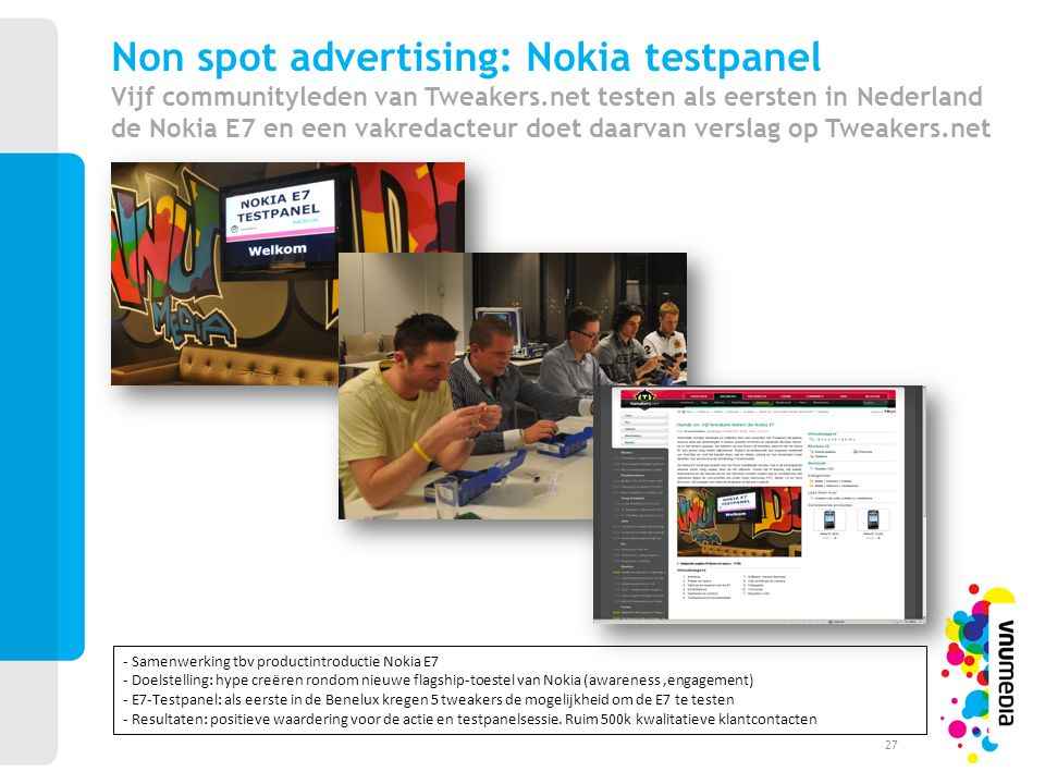 Non spot advertising: Nokia testpanel Vijf communityleden van Tweakers