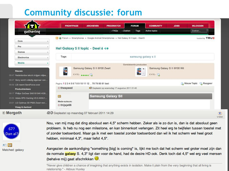 Community discussie: forum