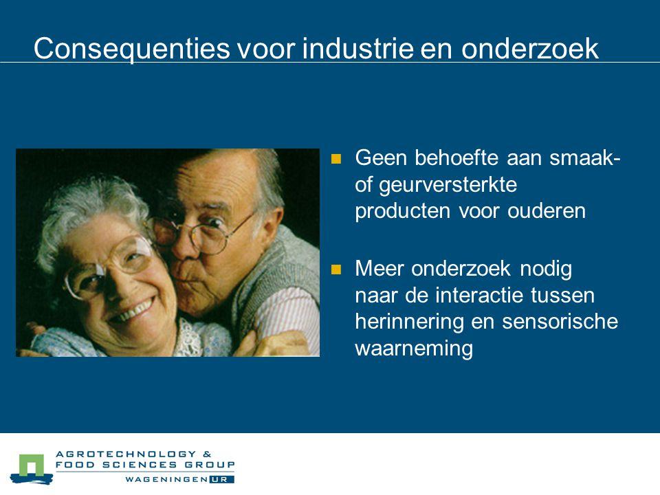 Consequenties voor industrie en onderzoek