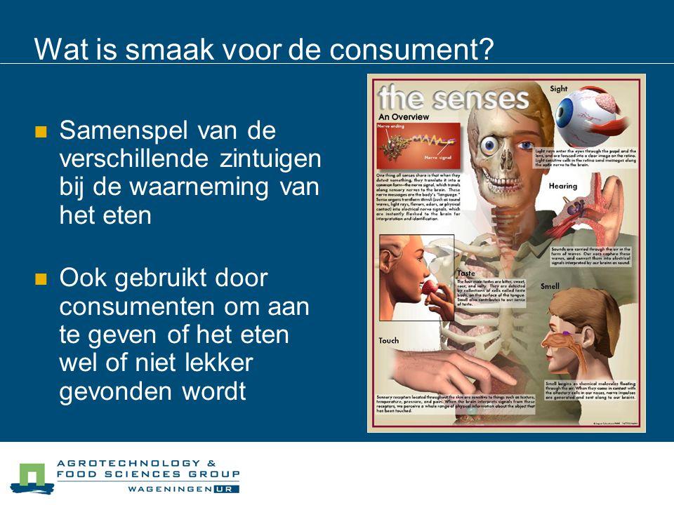 Wat is smaak voor de consument