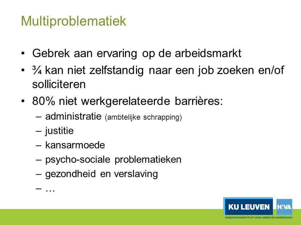 Multiproblematiek Gebrek aan ervaring op de arbeidsmarkt
