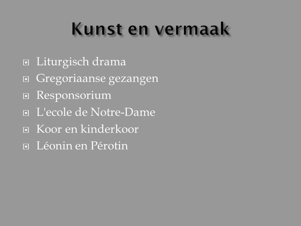 Kunst en vermaak Liturgisch drama Gregoriaanse gezangen Responsorium