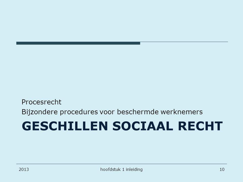 Geschillen sociaal recht
