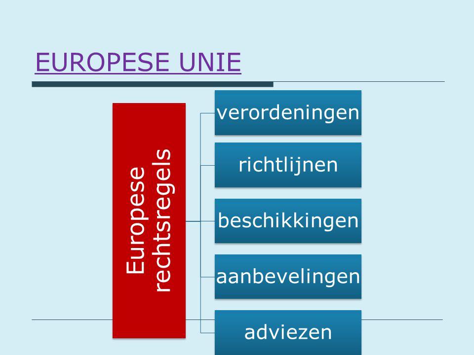 Europese rechtsregels