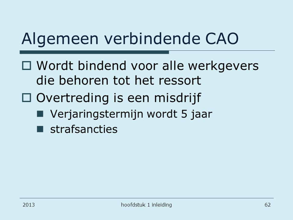 Algemeen verbindende CAO