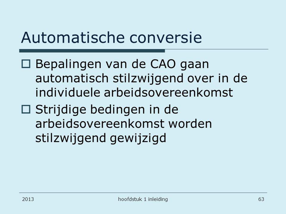 Automatische conversie