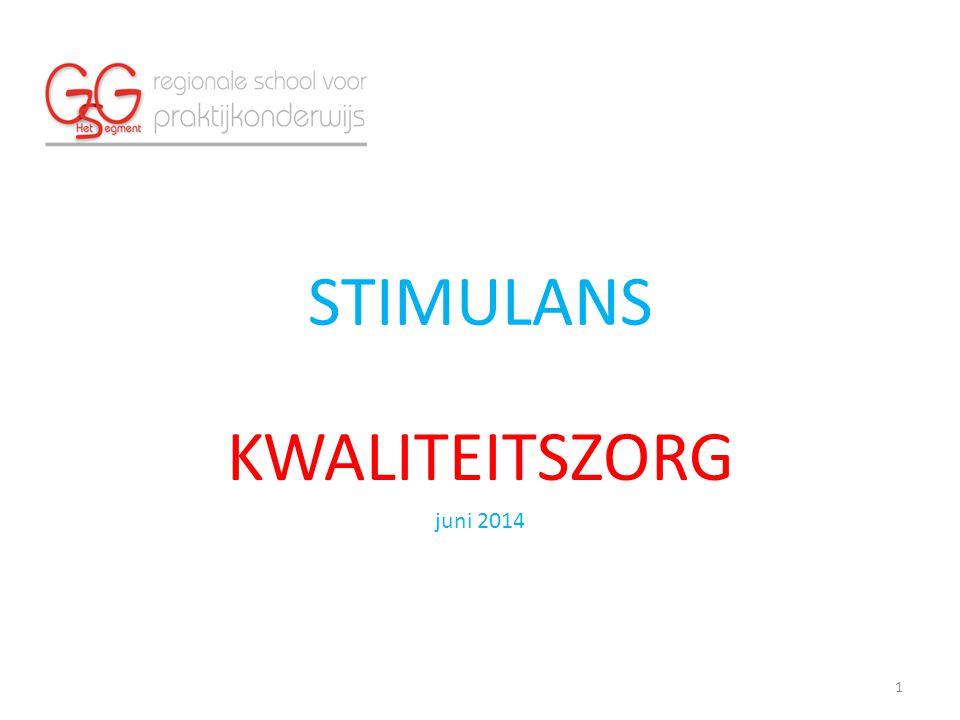 STIMULANS KWALITEITSZORG juni 2014