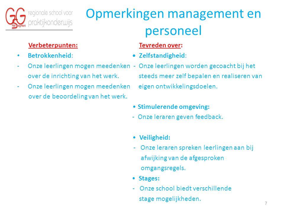 Opmerkingen management en personeel